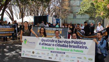 Manifestação aconteceu no Dia Nacional de Protesto