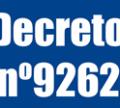 Decreto N° 9262